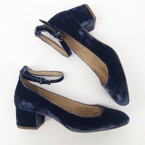 Madewell : Inez Ankle Strap Blue Heels Size 8